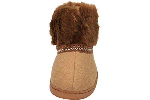 con cálido Dr de tobillo Castaño Keller zapatillas forro Brown qwHXB