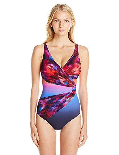 Gottex Womens Galaxy Surplice One-piece Swimsuit (8, Multi) by Gottex
