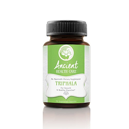 Ancient Health Care Premium Triphala - Digestion Support, Colon Cleanse, Weight Loss Supplement - Contains Amalaki, Haritaki and Bibhitaki - 90mg - 40% Tannins - 90 Veggie Capsules - Made in the USA (Best Chyawanprash For Weight Loss)