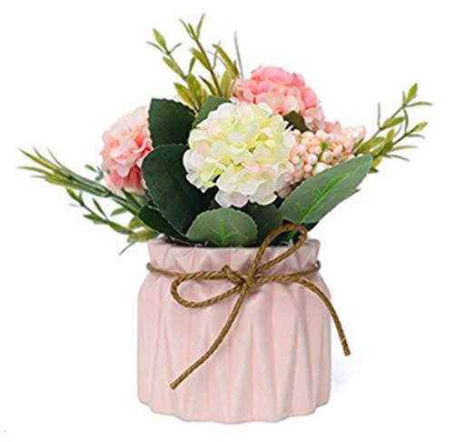(jumpjisper Artificial Flowers Elegant Wedding Bouquet Flower Arrangement for Home Decor Party Floral Centerpieces Decoration (Pink))