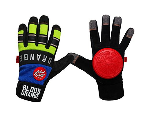 "Blood Orange ""Knuckles"" Slide Gloves, Blue/Neon, Small/Medium"