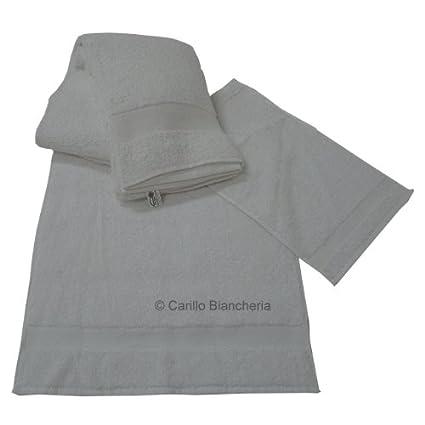 03ca935a53 Offerta 10 telo doccia 10 asciugamani 10 ospite spugna 100 cot Hotel BB  H165: Amazon.it: Casa e cucina