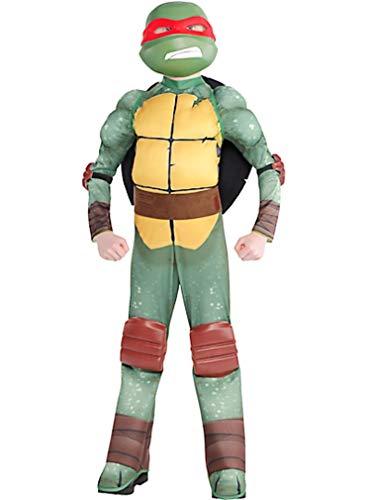 HalloCostume Boys Raphael Muscle Costume - Teenage Mutant Ninja Turtles Halloween Costumes for Boys, Kids -