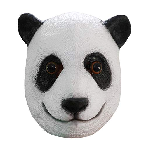 Diamondo Cute Panda Head Pattern Mask Natural Latex Head Cover Halloween Prank Props ()