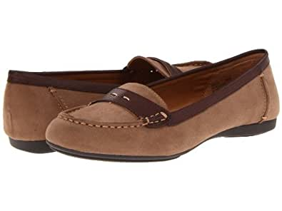 Mootsies Tootsies Shae Womens Slip On Loafers Shoes Natural/Brown Fabric 10