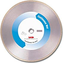 MK Diamond 155950 MK-215GL 10-Inch Wet Cutting Continuous Rim Supreme Metal Bond Blade for Glass