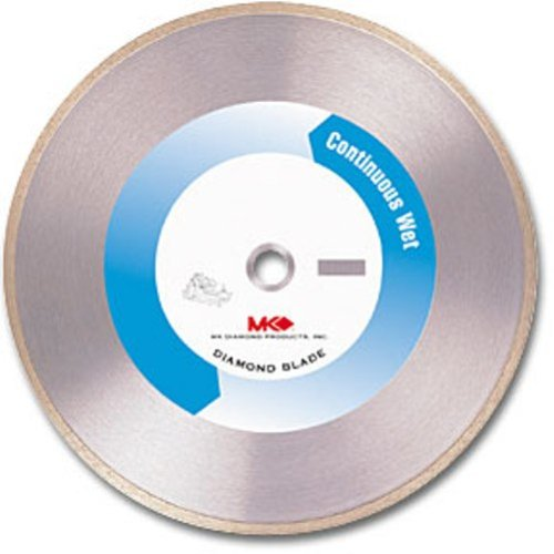 MK Diamond 155619 MK-415 10-Inch by 0.060-Inch Wet Cutting Continuous Rim Diamond Saw Blade with 5/8-Inch Arbor for Porcelain and Tile