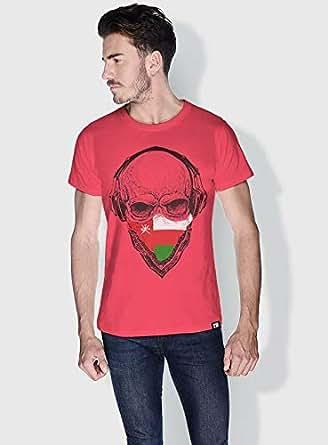 Creo Oman Skull T-Shirts For Men - S, Pink