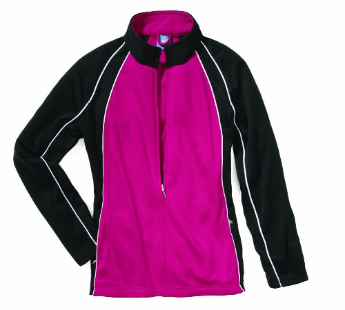Charles River Apparel Women's Olympian Jacket, Fuchsia/White/Black, Small