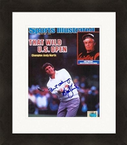 Andy North autographed magazine cover framed matted (Golf US Open Champion) Autographed Golf Equipment