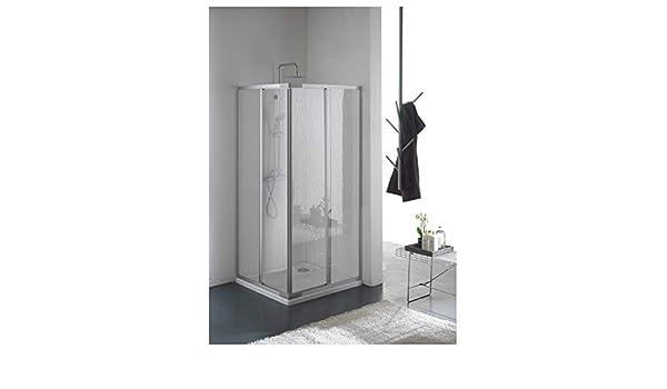 Mampara de ducha en acrílico cristal con esquina. puertas correderas 70 x 70 cm: Amazon.es: Bricolaje y herramientas