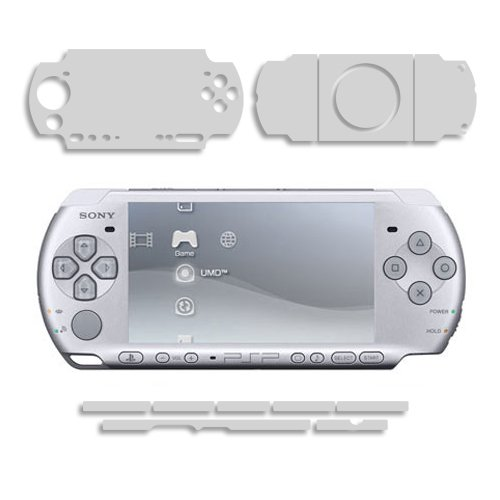 Sony PSP 3000 Screen Protector + Full Body, Skinomi® TechSkin Full Coverage Skin + Screen Protector for Sony PSP 3000 Front & Back Clear HD Film ()