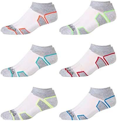 Reebok Boy's Cushion Comfort Low Cut Basic Socks (6 Pack)