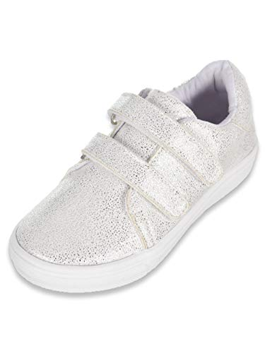 Nicole Miller Girls' Low-Top Sneakers - White/Silver,