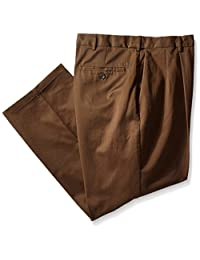 Haggar Men's Big & Tall Work to Weekend Hidden Expandable-Waist Pleat-Front Pant