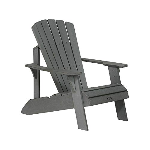 Lifetime Faux Wood Adirondack Chair, Gray - 60204 (Adirondack Chairs Gray Plastic)