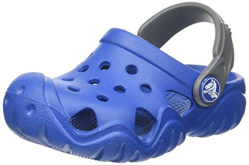 crocs Unisex-Kinder Swiftwater Clog Kids Black/Volt Green