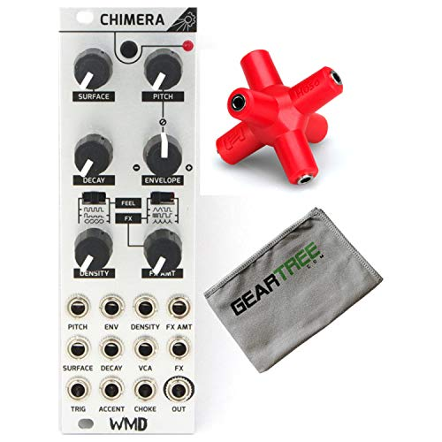 WMD Chimera Percussion Synthesizer Eurorack Module w/Splliter and Cleaning Clot