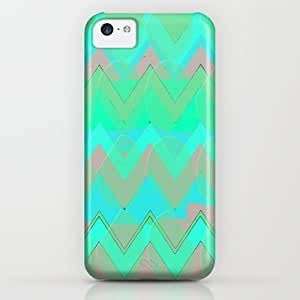 classic - Neon Chevron Dot iPhone & iphone 5c Case by Lunamumma