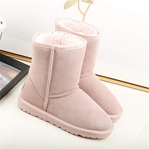 Fond Chenyajuan D'hiver Hiver Pink Bottes Joli Chaussures Coton Brides Les Femme Des À rqRzUfrw