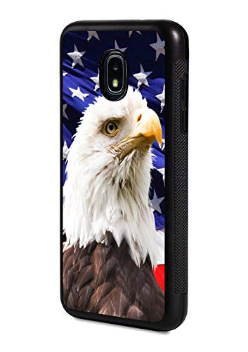 Galaxy J7 (2018) Case,Patriotic Bald Eagle American Flag Design Slim Impact Resistant Rubber Protective Case Cover for Samsung Galaxy J7 (2018)