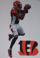 "A.J. Green Mini Fathead + Cincinnati Bengals Logo Official NFL Vinyl Wall Graphics 7"" INCH"