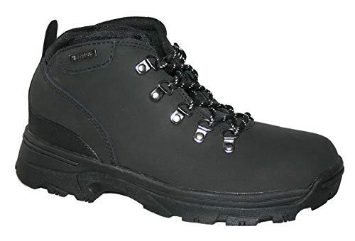 Northwest Territory Trek Womens Leather Hiking Walking Waterproof Boots (Numeric_4) Black