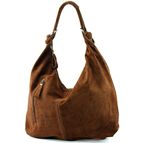 T158 Bag Leather ital Hobo de Leather Bag Wild Bag modamoda Brown Nut Large Leather waqZPPt