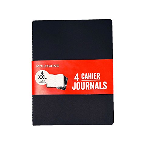 Moleskine 4 Pack XXL Ruled Cahier Journals - Black by Moleskine