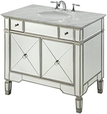 36 All-Mirrored Reflection Ashlyn Bathroom Sink Vanity Model YR-023RA-36