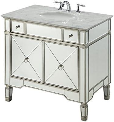 36 All-Mirrored Reflection Ashlyn Bathroom Sink Vanity Model YR-023RA-36