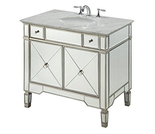 """36"""" All-mirrored reflection Ashlyn Bathroom sink vanity Model YR-023RA-36"""