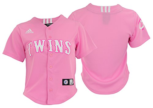 - adidas Minnesota Twins MLB Big Girls Performance Fashion Jersey, Pink L 14