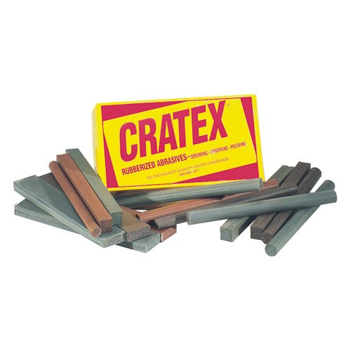 CRATEX Rubberized Abrasive Block & Stick Test Set - Mfr #: #228 Diameter: 3/8'',1/2'' Length: 6'' Package Qty: 16 by Cratex