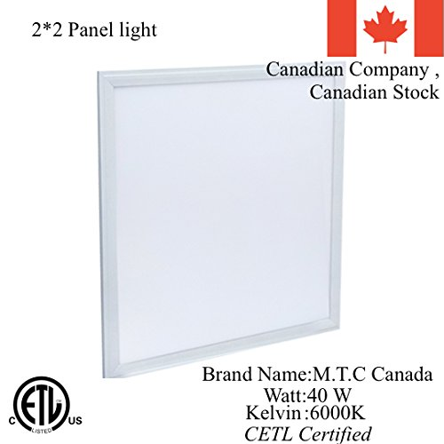 LED 2 Feet X 2 Feet (600mmX600mm) Dimmable CETL Approved Slim Panel Light with Junction Box at the Back 40W, 6000K , 4000Lm Luminous Pack of 4 Pieces=$340 Cad, 1 Piece = $85.00 Cad For Sale Special Sale For Limited Time only Pack of 4 Piece $260 Cad 1 Piec