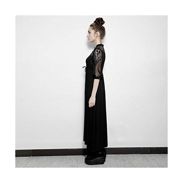 PUNK RAVE Steampunk Silk Cotton Long Dress Women Embroidery Victorian Royal Fairy Dress 4