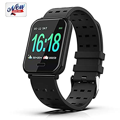 [2019 Latest] Smart Watch, Fitness Tracker Bracelet Pedometer Sports Wristbands Compatible for iPhone 5s/6/6s/7/7s/8/8s/X/XR/XS/MAX and Android 4.3 Above, Waterproof Activity Tracker Watch