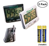 Digital Kitchen Timer Stopwatch Large LCD Display Digits Simple Operation Loud Alarm Magnetic