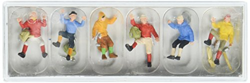Preiser 10190 Sports & Recreation Mountain Climbers pkg(6) HO Scale Figure (Sherpa Guide)