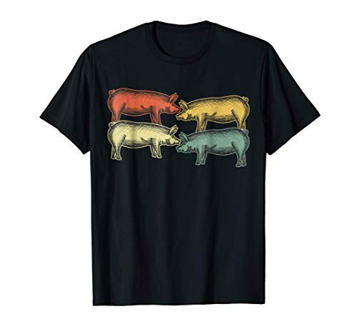 Vintage Pig Farmer Piggy Shirt For Piglet Owner Lover for $<!--$16.99-->