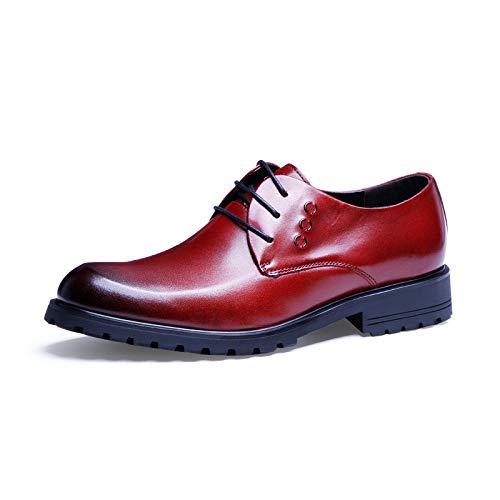 Oxford Zapatos Color Cordones Size Hombres Casuales Zapatos Casuales para Cuero Negocios de EU Red con 42 de Yao Planos Zapatos v7dApgwvq