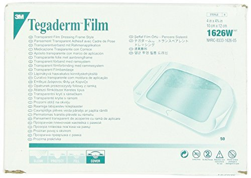 - 3M Tegaderm Transparent Film Dressing, Picture Frame Style, with Label, 4