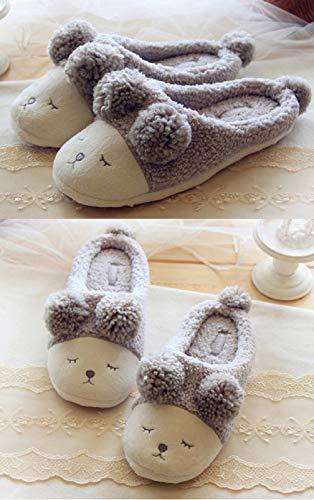 Antiscivolo Camera Pantofole Grey Mini sheep Chiuse Uomo Da Donna Morbido Back Della Letto Peluche Scarpe Invernali open Ciabatte Balabala qH7H0
