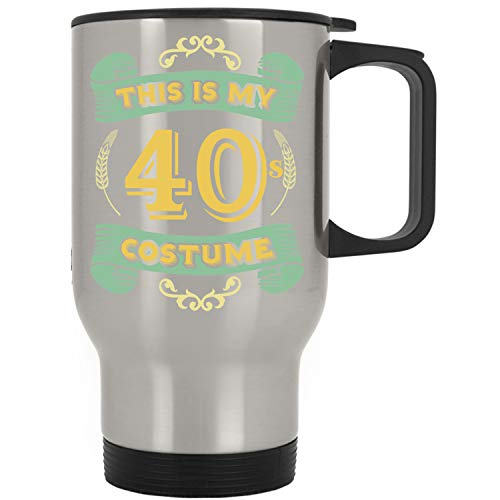This Is My 40s Costume - Funny Halloween 40 Birthday Gag Gifts Idea Travel Mug ()