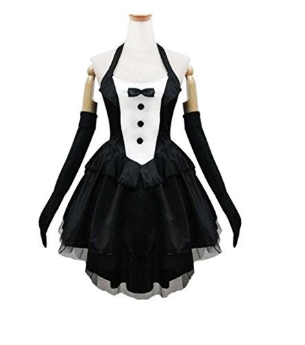 Womens Sexy Halloween Black Bunny Girl French Maid Lolita Dress Party Cosplay Costumes