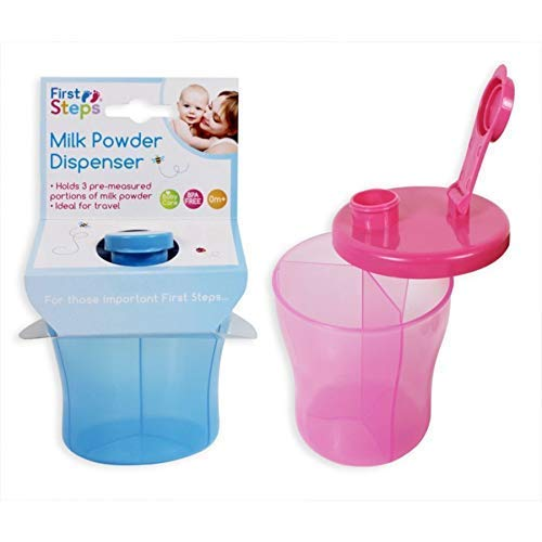 Baby Milk Powder Dispenser Feeding Formula Storage Pot Container (Pink) osigukltd