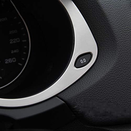 Gnnlor Garniture int/érieure de Couverture de d/écoration de Cadre de Tableau de Bord en Acier Inoxydable de Tableau de Bord de Voiture pour Audi Q3 2013-2018