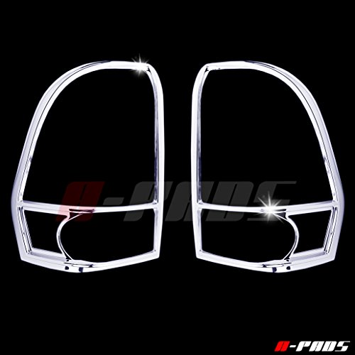 (A-PADS Chrome Tail Light Covers for Chevy TRAILBLAZER 2002-2009 - Rear Back Lights Taillight PAIR)