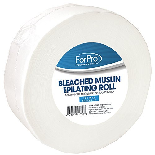 Bleached Muslin Epilating Roll 2.5? x 100 yds. by For Pro (Pro Muslin)