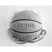 Basketball Artwork Decor, Personalized Boys Room Sports Art Print